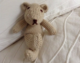 Knitted Teddy Bear - Stuffed Animal - Soft Toy - Teddy Bear - Stuffed Toy - Photo Prop