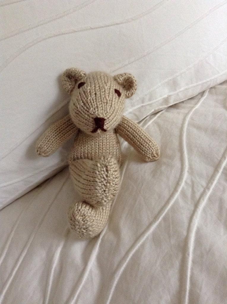 Knitting Patterns Teddy Bear Stuffed Animals : Knitted Teddy Bear Stuffed Animal Soft Toy Teddy Bear