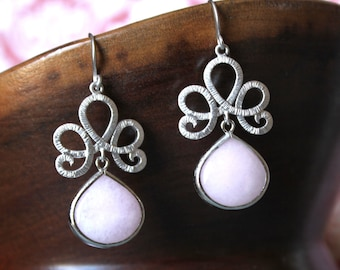 Exquisite Pale Pink Earrings