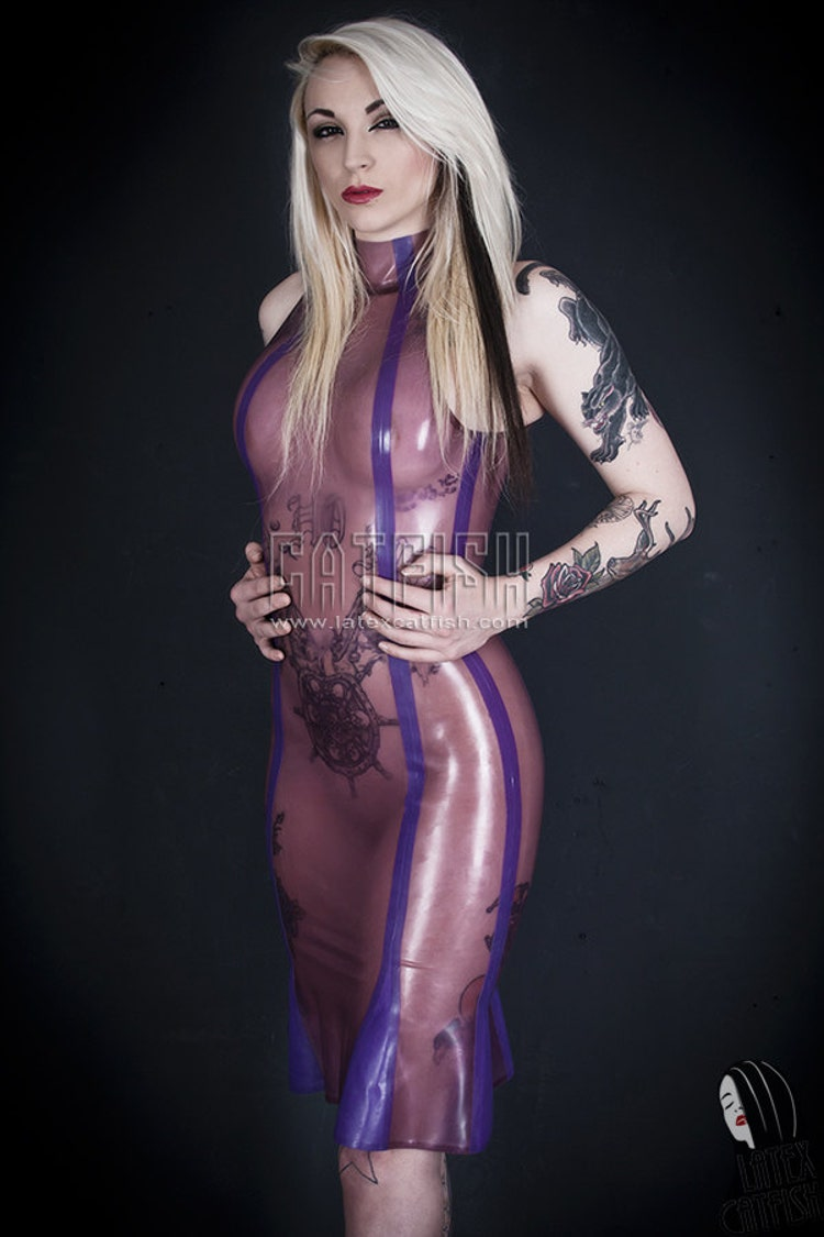 Sexy Transparent Purple Latex Dress By Latexcatfish On Etsy