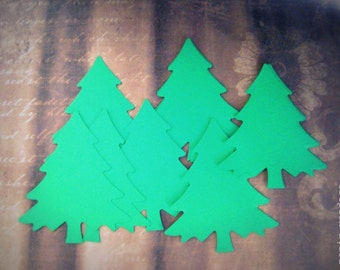 25 Nordic Christmas Tree Die Cuts, Large Evergreen Punches,Christmas Tree Punches,Christmas Decorations,Christmas Trees, Winter Decoration