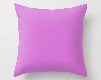 Deep Mauve Pillow, #D473D4, Solid Mauve Pillow, Mauve Pillow, Minimalist Decor, Modern Decor, Modern Pillow, Throw Pillow