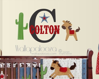 Horse Wall Decal   Cowboy Wall Decal   Western Wall Decal   Boyu0027s Name Wall  Decal Part 80
