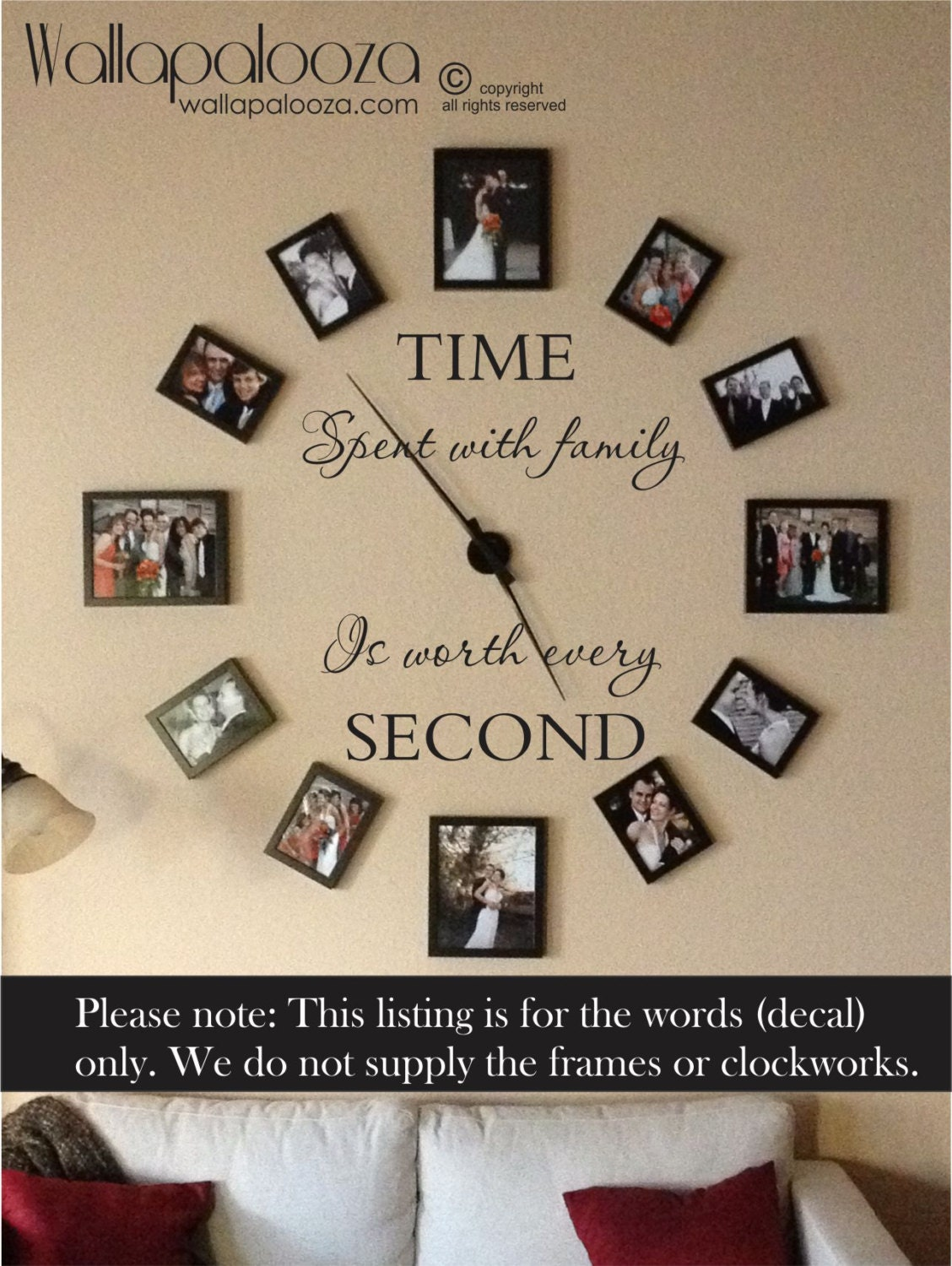 Time spent with family is worth every second wall decal zoom amipublicfo Images