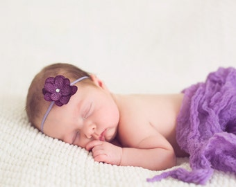 Petite  Hydrangea Photography  Headband and Cheesecloth set.. Photo Props... Baby Girls