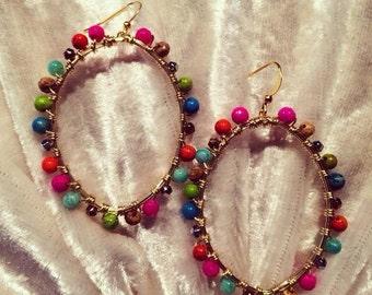 "The ""Tori"" earring in Confetti"