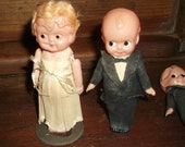antique Celluloid Kewpie doll cake toppers