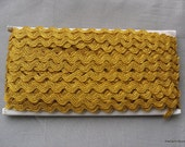 5 Yards Golden RicRac Metallic Trim