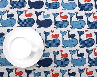 Linen tablecloth natural blue orange vales Modern decor Eco Friendly Scandinavan Design , runner , napkins , curtains ,great GIFT