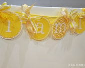 little miss sunshine first birthday high chair banner/ photo prop