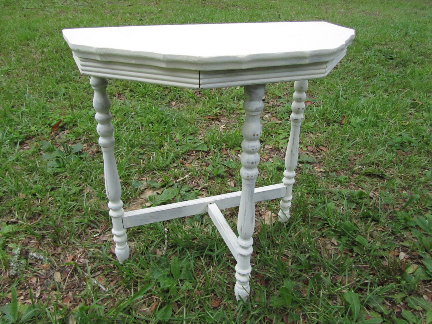 Shabby Chic Side Table Nightstand Vintage By