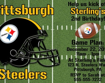 Pittsburgh Steelers Football Invitation or Thank you card