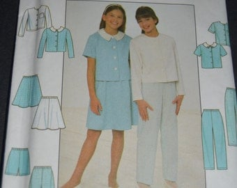 Simplicity 7979 Girls Dress and Jacket Sewing Pattern - UNCUT - Size 7 8 10