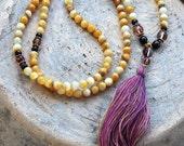 Beautiful shell mala necklace