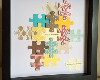 Puzzle Piece, 3D paper art, that can be personalized