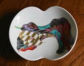 Vintage Rosenthal Porcelain signed Jan Van der Vaart and Brigitte Doege Modernist Leaf Bowl