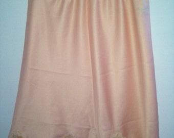 "Vintage Christian Dior soft peach slip size small  21"""