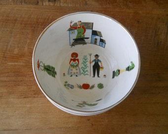 Retro Folk Scene Cups - Scandinavian Style