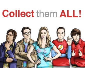 Bookmarks The Big Bang Theory TV Series Entire Collection