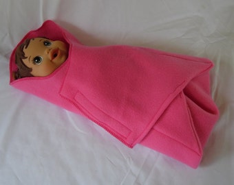 """Swaddle Blanket, Bunting for 13"""" - 15"""" Dolls and Stuffed Animals, Baby Alive, Bitty Baby, First Disney Princess, More"""