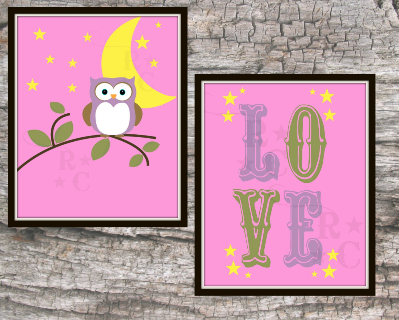 Baby girls nursery wall prints 8x10 bedroom wall art instant for 8x10 bedroom