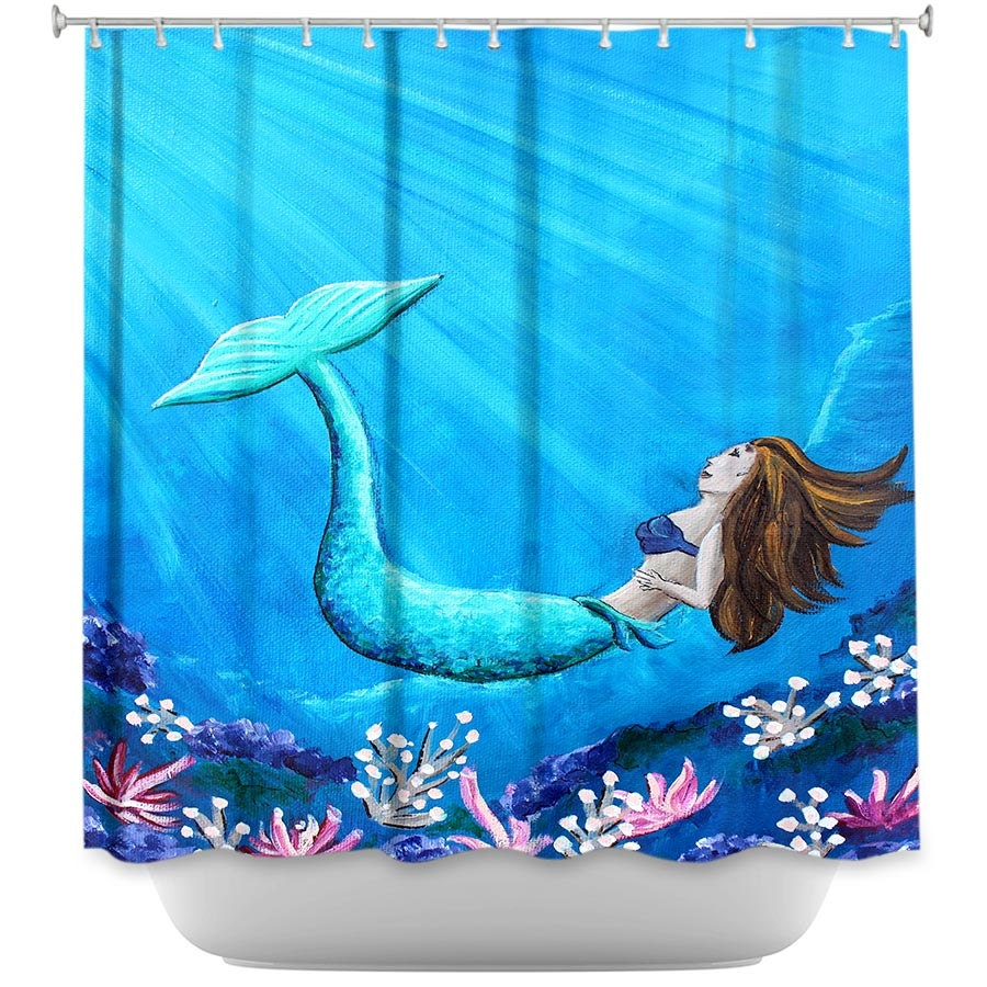Mermaid Shower Curtain Mermaid Bathroom Shower Curtain For