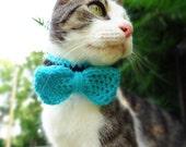 Crochet Pattern, Pet Crochet Pattern, Cat Collar Crochet Pattern, Cat Crochet Pattern, Bowtie Crochet Pattern, Bow Tie Collar Crochet
