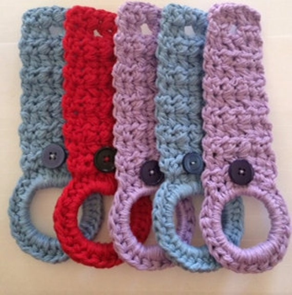 Crochet Patterns For Kitchen Towel Holders : Crochet Towel Holder by HandmadeByNatasha on Etsy