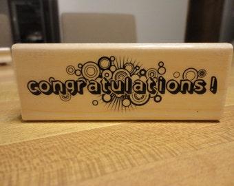 Inkadinkado Congratulations Rubber Stamp