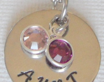 Aunt Birthstone Necklace