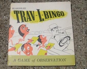 Vintage Mid Century Trav - L - Bingo UNUSED Blakeslee