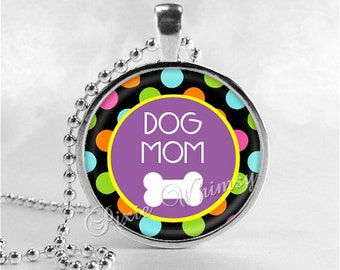 DOG MOM Necklace, Dog Lovers, Animal Rescue, Humane, Animal Rescue, Animal Adoption, Dog Rescue, Cat Rescue, Pet Adoption, Pet Rescue