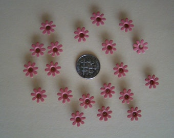 """21 pieces 0.5"""" (1/2"""") pink daisy eyelets"""