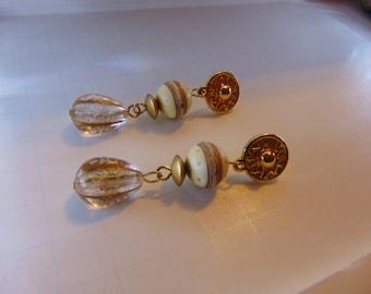 Vintage Dangle  Pierce Earrings