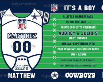 Dallas Cowboys Baby Shower Invitations was very inspiring ideas you may choose for invitation ideas