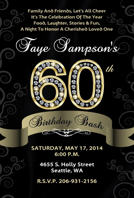 60th birthday bash custom designed by brooklyndesignstudio