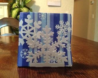 Napkin Holder - Metal - Snowflake - By PrecisionCut