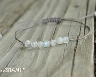 Moonstone Yoga Bracelet, Moonstone Meditation Bracelet, Crystal Healing Bracelet, Stack, Fertility Meditation Bracelet, Childbirth Bracelet
