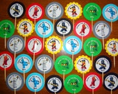30 ct personalized NINJAGO cupcake toppers picks great for birthday party favors decoration