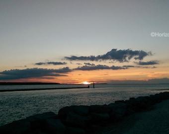 Bay Sunset Photo Nature Pastoral Landscape 8X10