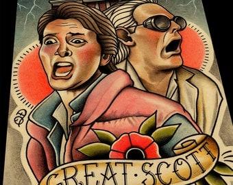 Great Scott (Back to the Future) Art Print