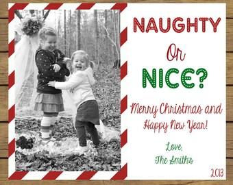 Naughty or Nice Christmas Card