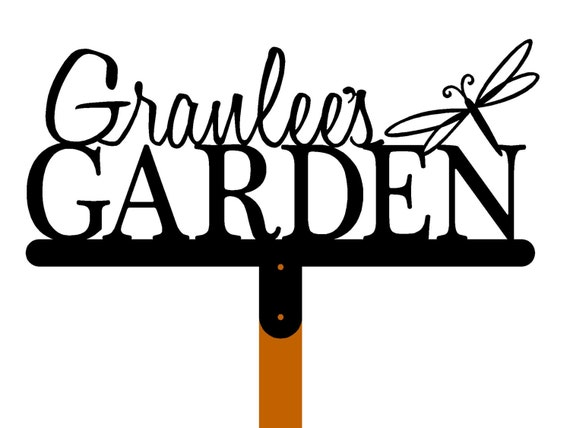 Custom Garden Name Metal Sign with by RefinedInspirations