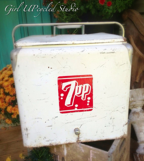 Vintage Antique 7up Soda Cooler By Girlupcycled On Etsy