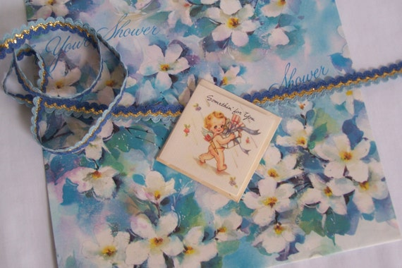 Wedding Gift Wrapping: Vintage Wedding/Bridal Shower Gift Wrap Set Paper Ribbon