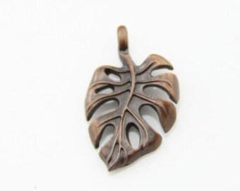 12 pcs of metal Calla Lily charm pendant 20x16mm-1271-antique copper