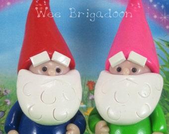 Gnome for Fairy Garden OOAK miniature, cake topper, handmade ornament