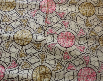 """CLOSE OUT  1 yard, 34""""  African Wax cotton  010908"""