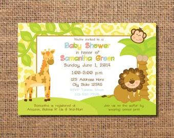 Jungle baby shower Etsy