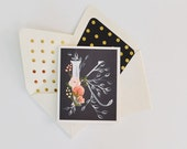 Floral Note Cards With Monogram   Boxed Set of 8